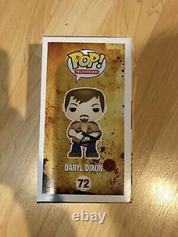 Funko Pop The Walking Dead Daryl Dixon #72 Hot Topic Exclusif Autographié