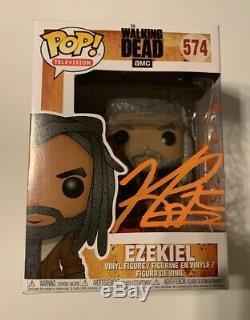 Funko Pop! The Walking Dead Ezekiel 574 Signé Khary Payton Vive Le Roi