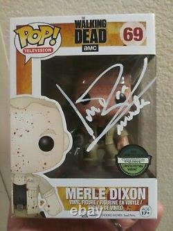 Funko Pop! The Walking Dead Merle Blood Éclaboussé Figure Michael Rooker Signé