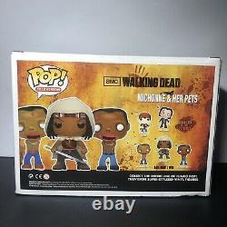 Funko Pop! The Walking Dead Michonne Et Ses Animaux De Compagnie 3-pk Px Previews Gitd
