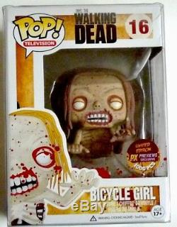 Funko Pop The Walking Dead Vélo Fille Sanglante # 16 Px Previews Exclusive Rare