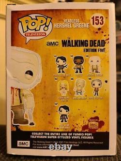 Funko Pop! Walking Dead Hershel Greene (sans Tête) #153. Sujet D'actualité Exclusif