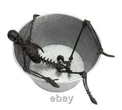 Grange De Poterie Halloween Extra Grande Marche Squelette De Bain Mort Squelette