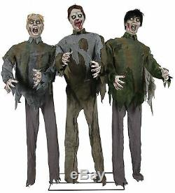 Halloween Animé Taille Réelle Marcher Mort Zombie Horde Prop Décoration Sons