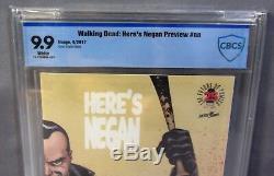Ici's Negan Preview # 1 (image Aveugle Box 1500) Cbcs 9.9 Monnaie Walking Dead Cgc