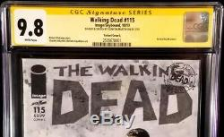 Image Comics # 115 Morts-vivants Ss Cgc 9.8 Original Art Sketch Rick Zombies Negan