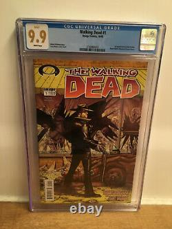 Image Comics # 1 Dead Walking Cgc 9.9 Pas 9.8 1er Rick Grimes Ultra Rare