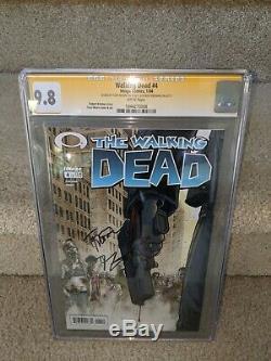 Image Comics The Walking Dead # 4 Signé Par Robert Kirkman Et Tony Moore Cgc 9.8 Ss