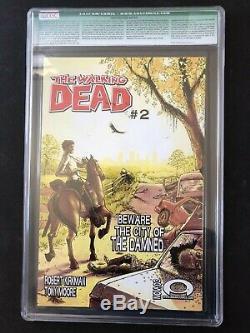 Image The Walking Dead # 1 Cgc 9.6 Niveau Qualifié Signé Par Robert Kirkman