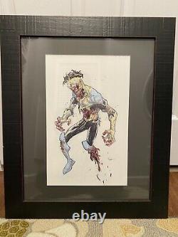 Invincible Zombie Art Original De Ryan Ottley Image Walking Dead Robert Kirkman