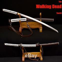 Japonais Marchant Mort Zombie Sword Katana Damas Acier Michonne Fait À La Main Nouveau
