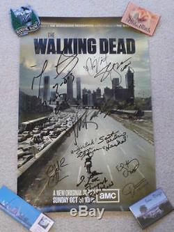 L'affiche Walking Dead Signée Par 12