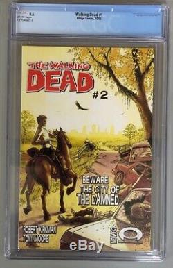 La Mort # 1 Walking Cgc 9,6 Nm + Image Comics 1er Rick Grimes Shane Morgan Duane