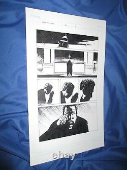 La Mort De Walking N°74 Page D'art Originale N°18 De Charlie Adlard (amc/tv/kirkman)
