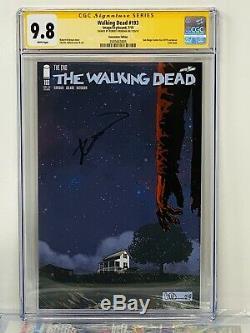 La Mort Sdcc Variante Walking # 193 Cgc Signature Series 9.8 Signé Kirkman Nouveau