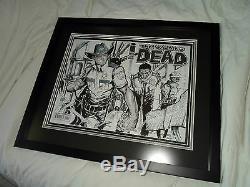 Le Sketch Walking Dead Art Original De Rick Grimes Laissant Mayberry Pas Cgc