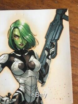 Les Gardiens De La Galaxie # 4 J Variété Scott Campbell Rare 150 Gamora