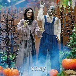 Lifesize Dernière Marche D'animation Zombie Couple Rare Props Halloween Gémissant Nib