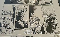 Marcher 102 Morts Problème, P14 Art Original Rick Grimes Comic Munitions Charlie Adlard