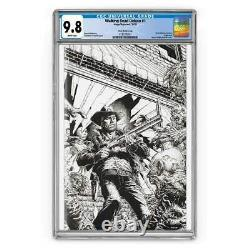 Marcher Dead Deluxe 1 Cgc 9.8 Croquis Finch Cover Limited À 250 Xpo Exclusives