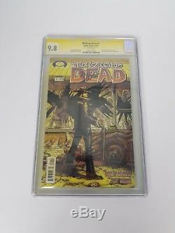 Marcher Morte # 1 Image Comics Cgc 9.8 Signé Tony Moore 1ère Apparition Rick Grime