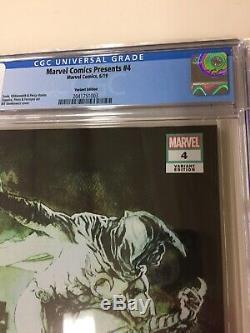 Marvel Comics Présente # 4 Cgc 9.8 Nm / H Bill Sienkiewicz (150) Variante L @@ K