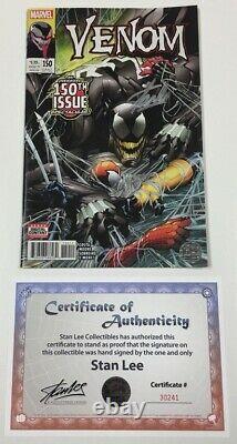 Marvel Venom #150 1ère Impression Signé Par Stan Lee Aveccoa