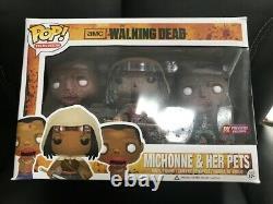 Michonne+her Pets Lot Of 3 The Walking Dead Funko Pop In Original Package