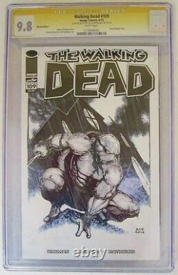 Mort À Pied #109 Cgc Classé 9.8 Ace Continuado Sketch Tmnt Image Comics 4/13
