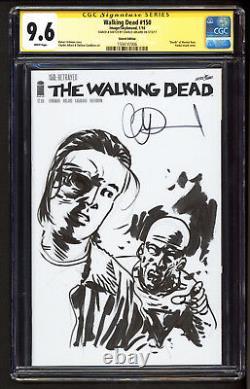 Mort À Pied #150 Cgc 9,6 Ss Charlie Adlard Zombie Sketch Nm+