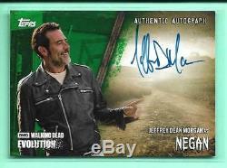 Negan Jeffrey Dean Morgan Green Evolution Dernière Marche Autograph # 5/25 Signés
