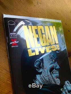 Negan Lives! # 1 Feuille D'or 1 Par Magasin Variante Walking Morte Image Rare Kirkman