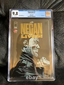 Negan Lives! # 1 Feuille D'or Cgc 9,8 1 Par Magasin Rare Variante Dernière Marche