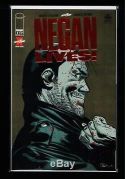 Negan Lives # 1 Feuille Rouge Exclusive Variante Dernière Marche Kirkman Skybound Nm