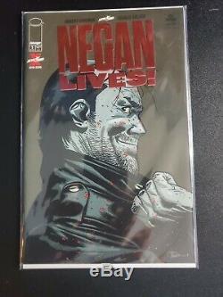 Negan Lives # 1 Feuille Rouge Variant Exclusive Dernière Marche Kirkman