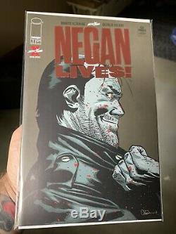 Negan Lives # 1 Feuille Rouge Variant Image Robert Kirkman Dernière Marche Ultra Rare