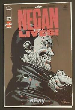 Negan Lives # 1 Feuille Rouge Variant Rare Dernière Marche Kirkman