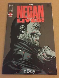 Negan Lives # 1 Feuille Rouge Variante Image Robert Kirkman Dernière Marche Limitee Rare