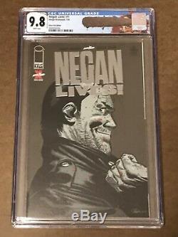 Negan Lives! # 1 Or, Argent, Rouge Cgc 9.8,9.8,9.6 Lucille Negan Walking Étiquette Morte