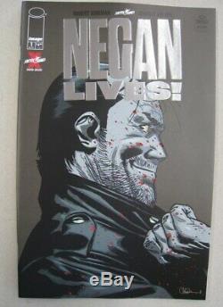 Negan Lives # 1 Or & Argent Variante Set Dernière Marche