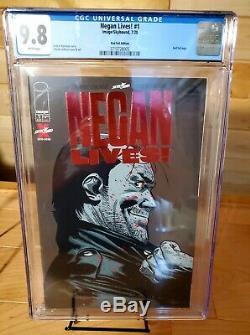Negan Lives! # 1 Rouge Rubis Feuille Variant Cgc 9,8 Nm / Mt Rare 500 Seulement Dernière Marche