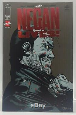 Negan Lives # 1 Rubis Couverture Variante De Feuille Rouge Marche Morts Limité À 500 Tres Rare