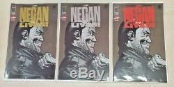 Negan Lives! # 1 Set (1 Or, 1 Argent Et 1 Régulier) Variante Lot Image Kirkman