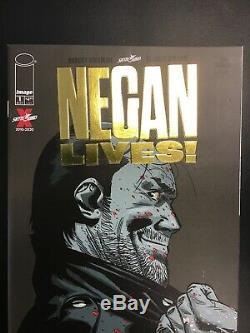 Negan Lives # 1 Variant D'or Robert Kirkman Dernière Marche New Et Rare