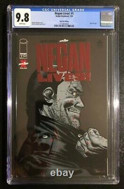 Negan Lives 1 Variante Red Foil Robert Kirkman Walking Mort Rare Book Cgc 9.8
