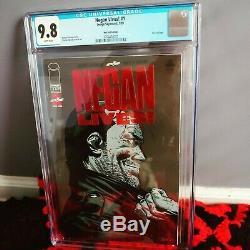 Negan Lives Rare Feuille Rouge Couverture Cgc 9.8 The Walking Dead