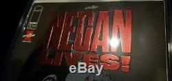 Negan Lives! Rouge Rubis Feuille Variant Skybound En Dernière Marche Cache Expédié