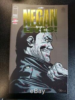 Negan Lives! Walking Dead Feuille D'or Par Une Image Variant Magasin