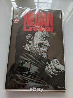 Negan Set Rouge Vies Entier Or Argent Bronze Foil 1er Et 2ème Impression Kirkman Twd