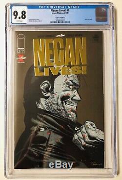 Negan Vies # 1 Cgc 9.8 Gold Logo Foil Variant Kirkman Dernière Marche